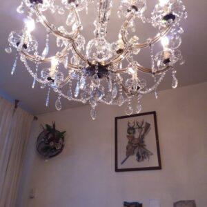 12 armse kristallen lamp