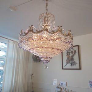 Swarovski Kristallen kroonluchter met paars kristal