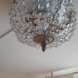 Klein kristallen plafonnière